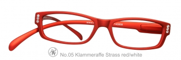 Klammeraffe No.05 Strass red/white