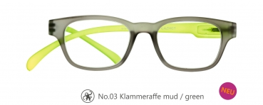 Klammeraffe No.03 mud/green
