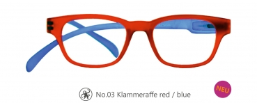 Klammeraffe No.03 red/blue