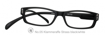 Klammeraffe No.05 Strass black/white