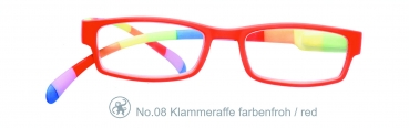 Klammeraffe No.08 farbenfroh - red