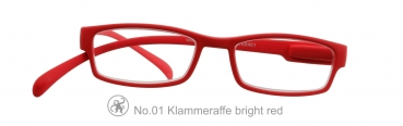 Klammeraffe No.1 bright red