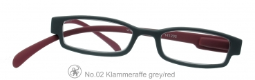 Klammeraffe No.02 - Grey Red